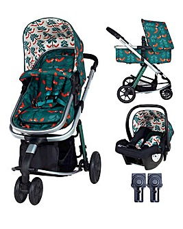Cosatto Giggle 2in1 Pram & Pushchair Travel System Bundle - Fox Friends