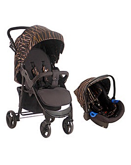 My Babiie Rose Gold Black Pushchair & Car Seat