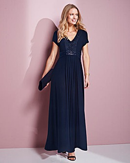 Together Navy Maxi Dress With Lace