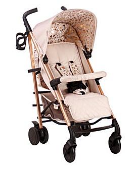 My Babiie Believe by Katie Piper Rose Gold Blush Leopard Lightweight Stroller