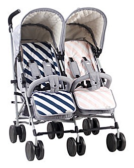 My Babiie Dreamiie by Samantha Faiers Grey Melange Double Stroller