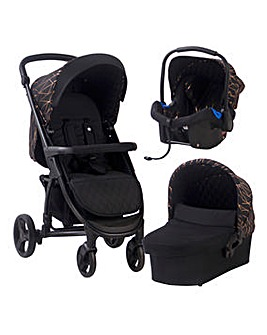 My Babiie Black & Rose Gold Travel System