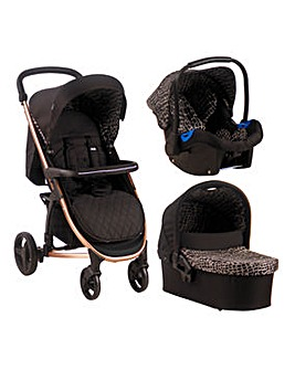 My Babiie Signature Range by Samantha Faiers Black Alligator Travel System
