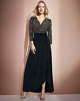 Together Lace Bodice Maxi Jersey Dress