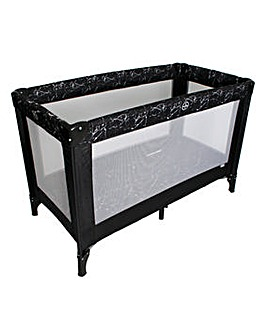 My Babiie Black Marble Travel Cot