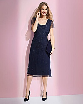 Together Navy Floaty Sequin Dress