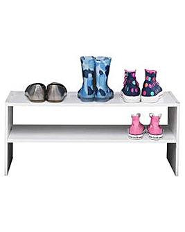 2 Shelf Internal Wardrobe Shoe Rack