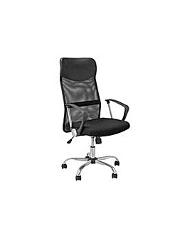 Mesh & Leather Effect Office Chair