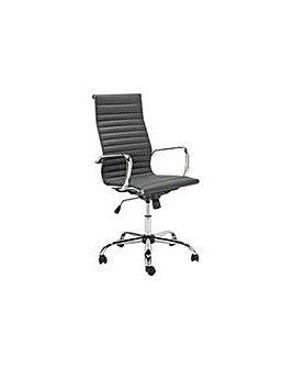 Hygena Textured Back Chair - Black
