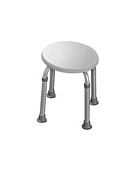 Round Shower Stool - Height Adjustable