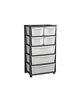 7 Drawer Plastic Wide Tower Storage Unit