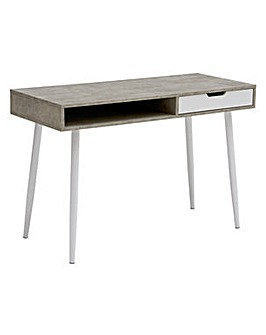 Concrete Style Office Desk - Grey