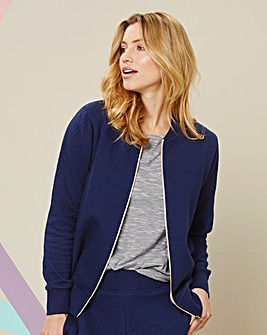 Sports Quilted Bomber Jacket