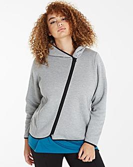Asymetric Sports Zip Hoodie