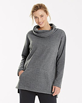 Grey Super Soft Cowl Neck Jumper