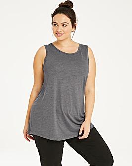 Grey Marl Longline Value Vest