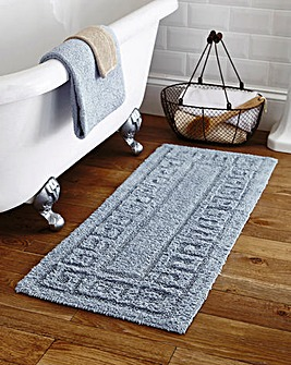 Greek Key Extra Long Bathmat