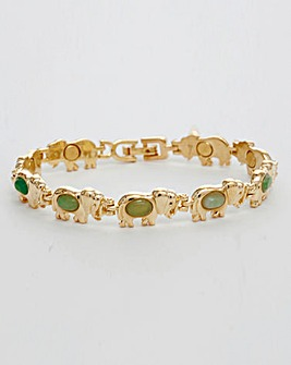Gold Plated Elephant Magnetic Bracelet