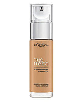 L'Oreal True Match Liquid Foundation With Hyaluronic Acid 6.5W Golden Toffee