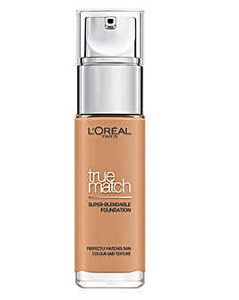 L'Oreal True Match Liquid Foundation With Hyaluronic Acid 7.W Golden Amber