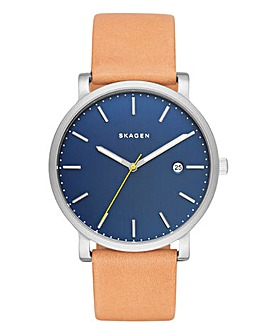 Skagen Leather Strap Watch