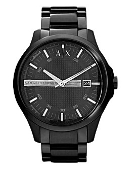 Armani Exchange Mens Hampton Black Everything Bracelet Watch