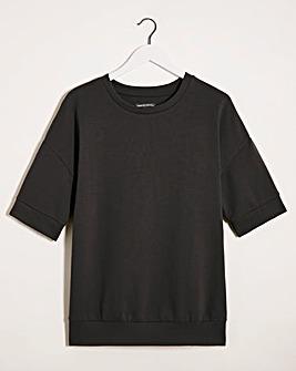 Black Short Sleeve Sweatshirt