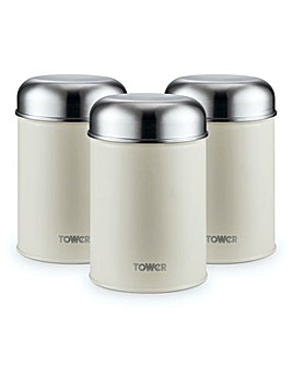 Tower Infinity Stone Canisters Cream