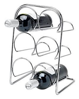 Pisa Chrome 6 Bottle Wine Rack