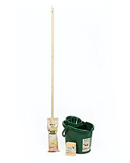 Eco Mop & Bucket with Free Sponges