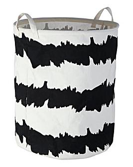 Mono Print Laundry Basket