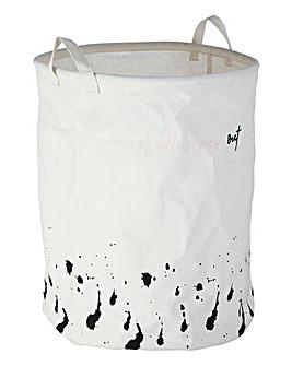 Speckled Print Laundry Basket