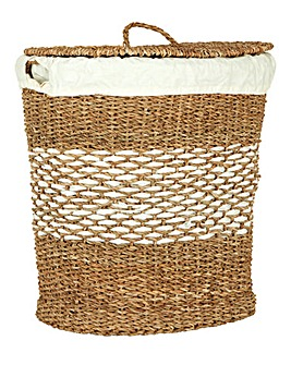 Oval Seagrass Laundry Basket