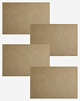Gold Glitter Set of 4 Placemats
