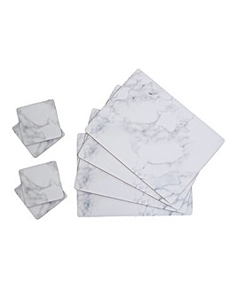 Marble Set of 4 Placemats & Coasters