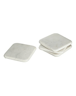 Square Marble Set of 4 Coasters
