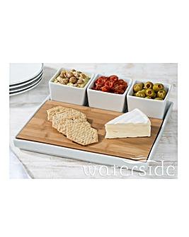 White 5 Piece Cheese Platter