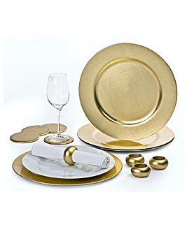 Charger Plate Set of 12 Gold