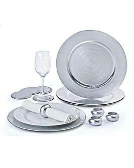 Charger Plate Set of 12 Silver