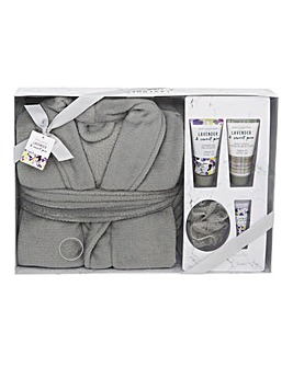 Lavender & Sweetpea Bath Robe Gift Set