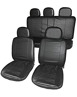 Streetwize Blk Leather Look Seat Covers