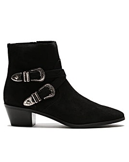 Daniel Elder Suede Western Ankle Boots