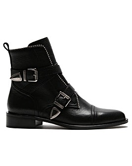 Daniel Endi Leather Biker Boots