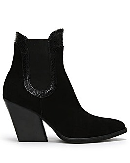 Daniel Void Suede Reptile Western Boots