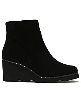 Daniel Mowall Suede Wedge Ankle Boots