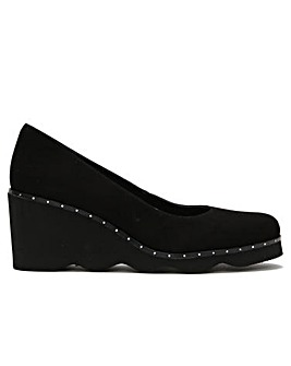 Daniel Motee Suede Wedge Court Shoes