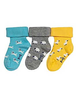 Kite 3 Pack Farm Garden Socks