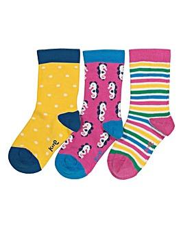 Kite 3 Pack Seahorse Socks
