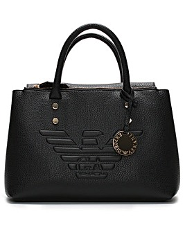 Emporio Armani Fold Over Logo Tote Bag