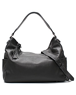 Daniel Doyt Grainy Leather Hobo Bag